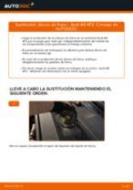 Cómo cambiar: discos de freno de la parte trasera - Audi A6 4F2 | Guía de sustitución