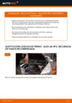 Cómo cambiar: discos de freno de la parte delantera - Audi A6 4F2 | Guía de sustitución