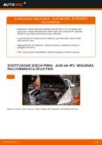 PDF manuale di sostituzione: Kit dischi freno AUDI A6 Sedan (4F2, C6) posteriore e anteriore