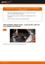 Replacing Bracket, stabilizer mounting AUDI A6: free pdf