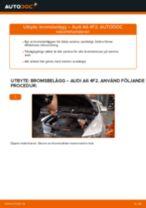 Byta Bromsbeläggsats bak och fram AUDI själv - online handböcker pdf