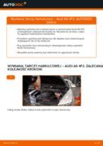 Jak wymienić tarcze hamulcowe przód w Audi A6 4F2 - poradnik naprawy