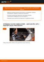 Poradnik krok po kroku w formacie PDF na temat tego, jak wymienić Klocki Hamulcowe w AUDI A6 (4F2, C6)