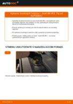 Ako vymeniť a regulovať Brzdový kotouč AUDI A6: sprievodca pdf