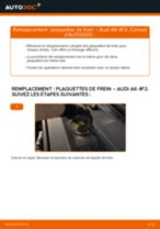 Comment changer : plaquettes de frein arrière sur Audi A6 4F2 - Guide de remplacement