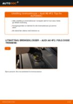 Montering Bremsekloss AUDI A6 (4F2, C6) - steg-for-steg manualer