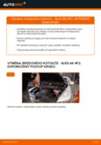 Doporučení od automechaniků k výměně AUDI Audi A6 4f2 2.0 TDI Brzdovy kotouc