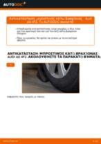 Πώς να αλλάξετε μπροστινός κάτω βραχίονας σε Audi A6 4F2 - Οδηγίες αντικατάστασης