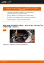 Kako zamenjati in prilagoditi Zavorni kolut AUDI A6: vodnik pdf