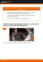 Como mudar pastilhas de travão da parte dianteira em Audi A6 4F2 - guia de substituição