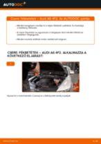 Elülső fékbetétek-csere Audi A6 4F2 gépkocsin – Útmutató