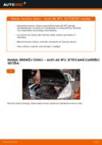 Kā nomainīt: priekšas bremžu diskus Audi A6 4F2 - nomaiņas ceļvedis