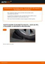 Montaggio Kit cuscinetto ruota AUDI A6 (4F2, C6) - video gratuito