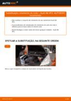 Tutorial passo a passo em PDF sobre a substituição de Discos de Travão no Range Rover Velar L560
