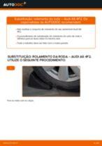 Como mudar e ajustar Kit de acessórios, pastilhas de travão AUDI A6: tutorial pdf