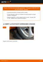 Kormányösszekötő gömbfej-csere Peugeot 206 CC 2D gépkocsin – Útmutató