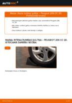 Riteņa rumbas gultnis maiņa: pdf instrukcijas PEUGEOT 206