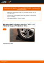 Automechanikų rekomendacijos PEUGEOT Peugeot 206 cc 2d 2.0 S16 Vikšro Valdymo Svirtis keitimui