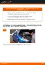 Montaż Zestaw klocków hamulcowych PEUGEOT 206 CC (2D) - przewodnik krok po kroku