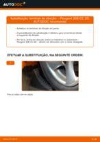 Como mudar terminal de direção em Peugeot 206 CC 2D - guia de substituição