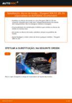 Mudar Discos de freio: instrução pdf para PEUGEOT 206