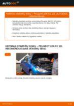 PEUGEOT 206 CC (2D) Paskirstymo diržas / komplektas pakeisti: žinynai pdf