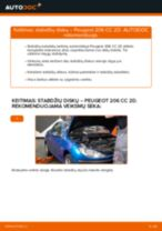 Žingsnis po žingsnio remonto vadovas Peugeot 206 cc 2d