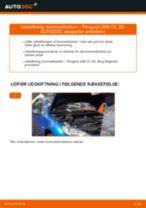 Værkstedshåndbog PEUGEOT downloade