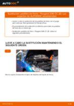 Cómo cambiar: pastillas de freno de la parte trasera - Peugeot 206 CC 2D | Guía de sustitución