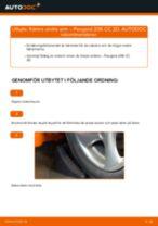 Bilmekanikers rekommendationer om att byta PEUGEOT Peugeot 206 cc 2d 2.0 S16 Stabilisatorstag