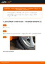 Skifte Bærebru PEUGEOT 206: verkstedhåndbok