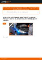Instruções gratuitas online sobre como substituir Correia estriada PEUGEOT 206 CC (2D)