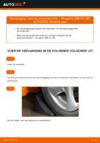 Hoe voorste onderste arm vervangen bij een Peugeot 206 CC 2D – vervangingshandleiding