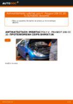 Πώς αλλαγη και ρυθμιζω Καπό PEUGEOT 206: οδηγός pdf