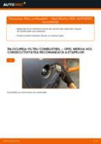 Cum să schimbați: filtru combustibil la Opel Meriva X03 | Ghid de înlocuire