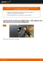 Tutorial de reparación y mantenimiento de OPEL MERIVA