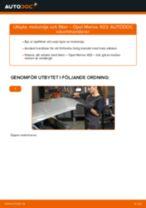 OPEL MERIVA reparations- och underhåll handledning