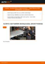 Kuinka vaihtaa moottoriöljy ja öljynsuodatin Opel Meriva X03-autoon – vaihto-ohje