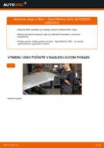 Ako vymeniť motorové oleje a filtre na Opel Meriva X03 – návod na výmenu