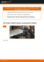 Como mudar óleo do motor e filtro em Opel Meriva X03 - guia de substituição
