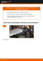 Kuidas vahetada Opel Meriva X03 mootoriõli ja filtrit – õpetus