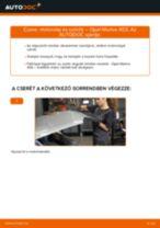 Motorolaj és szűrők-csere Opel Meriva X03 gépkocsin – Útmutató