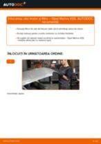 Cum să schimbați: ulei motor și filtru la Opel Meriva X03 | Ghid de înlocuire