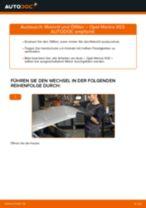 OPEL MERIVA Bremsbacken für Trommelbremse: Online-Handbuch zum Selbstwechsel