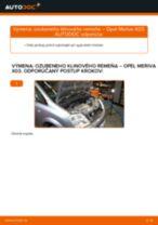 Ako vymeniť ozubený klinového na Opel Meriva X03 – návod na výmenu