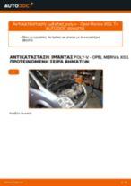 Πώς να αλλάξετε ιμάντας poly-V σε Opel Meriva X03 - Οδηγίες αντικατάστασης
