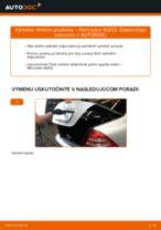 Výmena Hlava / čap spojovacej tyče riadenia MERCEDES-BENZ C-CLASS: dielenská príručka