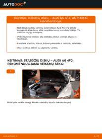 Kaip atlikti keitimą: 3.0 TDI quattro Audi A6 4f2 Stabdžių diskas