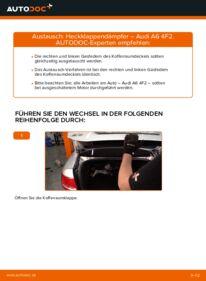 Wie der Wechsel durchführt wird: Heckklappendämpfer Audi A6 4f2 3.0 TDI quattro 2.0 TDI 2.4 tauschen