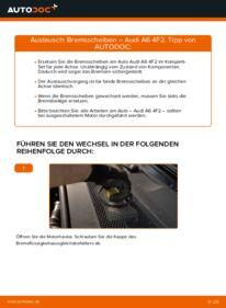 Wie der Wechsel durchführt wird: Bremsscheiben 3.0 TDI quattro Audi A6 4f2 tauschen